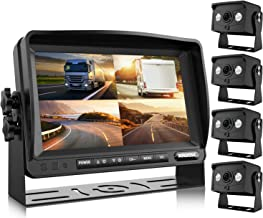 Xroose Digital Backup Camera FHD Rear Front Side View Reverse Cam and 1080P Screen for Backing Vehicle Large 9 Recorder Monitor Kit for RV Trailer YX4 Reversing Camper Truck Motorhome 5th Wheel