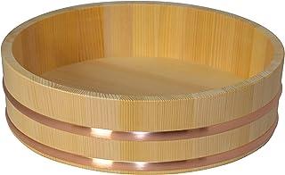 木曽の桶屋 木曽さわらの寿司桶1尺1寸 5合用 飯切 飯台 33cm