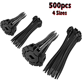 Superun 6 inch selflocking cable tie Industrial grade zip tie pack of 100 black