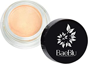 BaeBlu Organic Shimmer Highlighting Cream, for Eyes or Cheeks, 100% Natural, Rose Gold