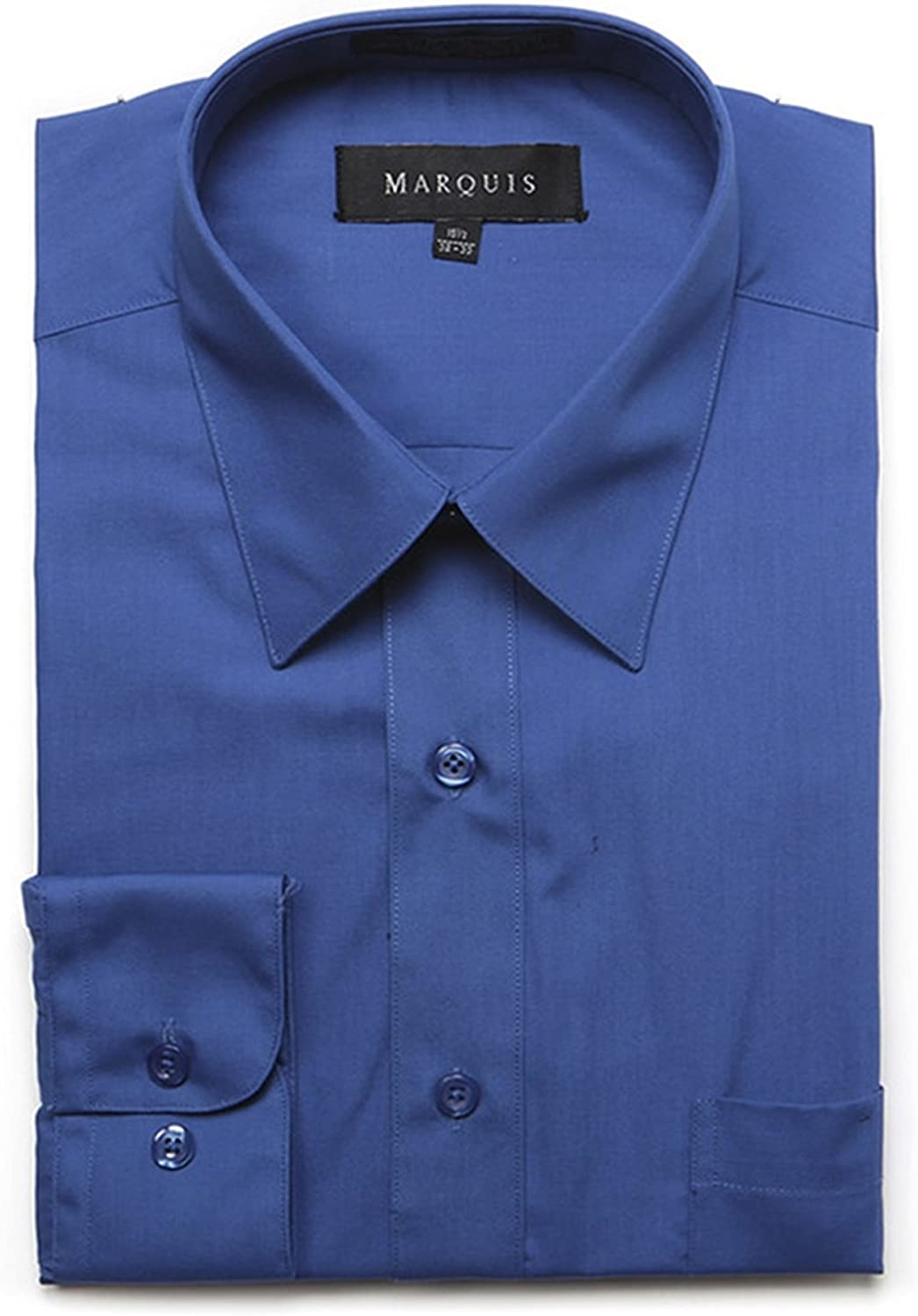 Marquis Men's Long 67% OFF of fixed price Sleeve Regular Fit Dress 70% OFF Outlet Big Shir Tall Size