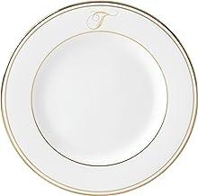 Lenox Federal Gold Script Monogram Dinnerware Salad Plate, T