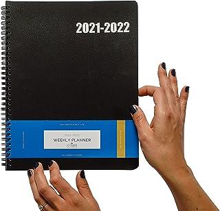 $24 » Delane Weekly Planner 2021-2022, Spiral Bound, Quality Book – Schedule Your Work or School Calendar – Annual Organizer Age...