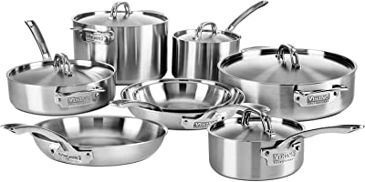 Amazon Com All Clad Bd005707 R D5 Brushed 18 10 Stainless
