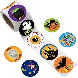 Fancy Land Halloween Stickers Theme Party Favor Decoration 200Pcs Per Roll