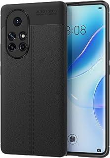 MoKo Case Compatible with Huawei Nova 8 Pro, Non-slip Texture Flexible TPU Gel Bumper Phone Shell Protective Shockproof An...