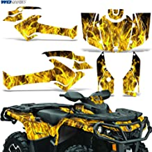 Can-Am Outlander SST G2 XT 500/650/800R/1000 2012-2016 Graphic Kit Decal Sticker FLAMES YELLOW