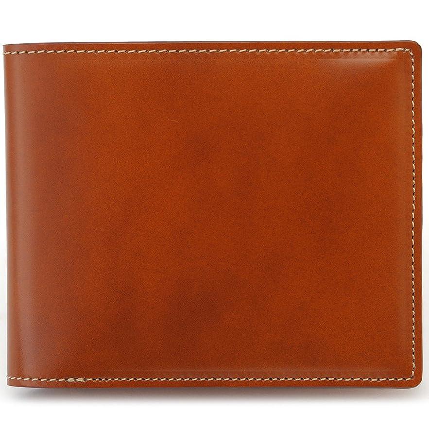 反抗日光チキンBRIT HOUSE コードバン 二つ折り財布 馬革高級紳士革財布(全3色)