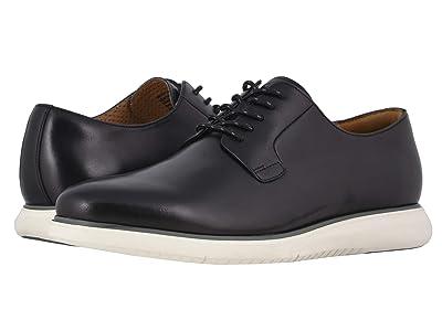 Florsheim Fuel Plain Toe Oxford II (Black Smooth/White Sole) Men
