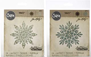 Tim Holtz Alterations - Flurry #1 and Flurry #2 - Two Intricate Snowflake Thinlit Dies