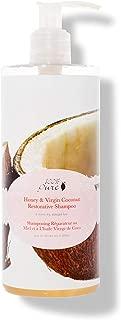 100% PURE Honey & Virgin Coconut Restorative Shampoo (13 Fl Oz), Sulfate Free Shampoo, Restores Damaged Hair, Replenishes Moisture, Healthy Hair Growth