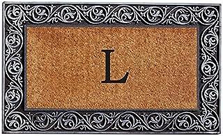 Home & More 10002SILVL Prestige Silver Monogram Doormat (Letter L)