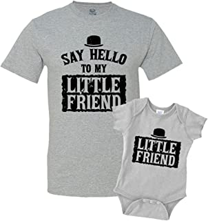 Say Hello to My Little Friend Shirts Matching Father Son Shirts Bodysuit Clothing
