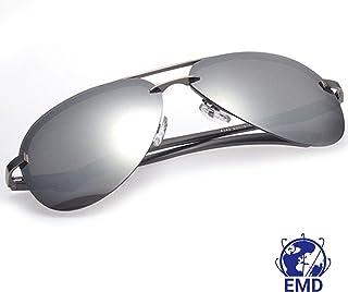 3ca512ae2c Lunettes de soleil Aviateur Design - Polarisées - Effet miroir - UV 400 -  Très légères, alliage Alu-Magnesium - Charnière Flex - Homme - Femme -  Recommandé ...
