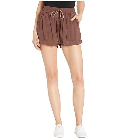 Hard Tail Drawstring Pocket Shorts (Mocha) Women