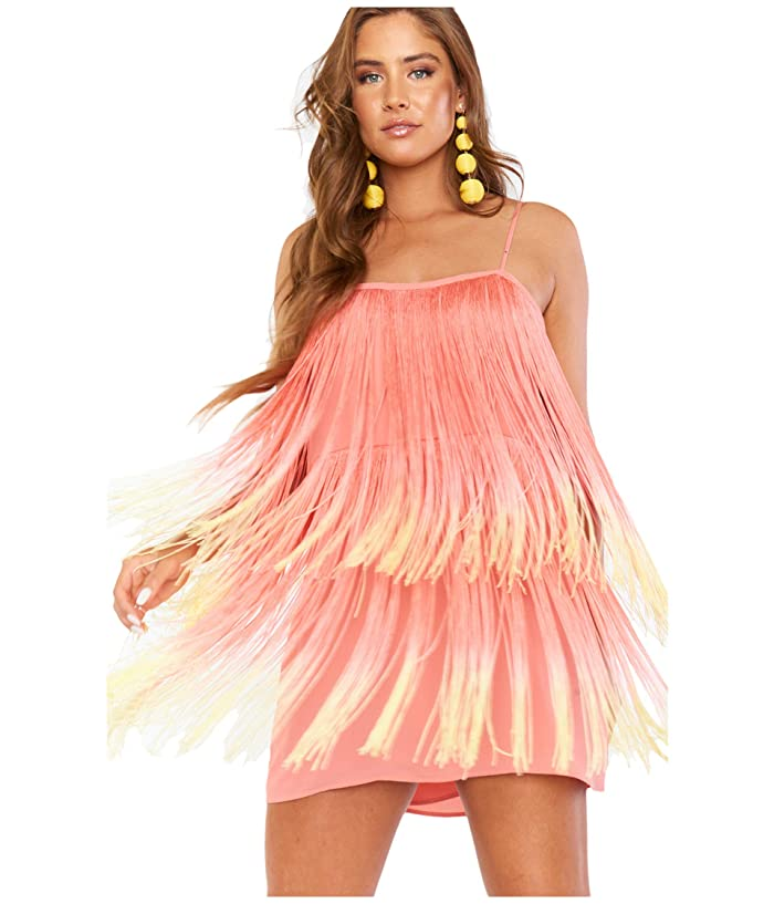 Show Me Your Mumu  Fringe Mini Dress (Sunset Fringe) Womens Dress