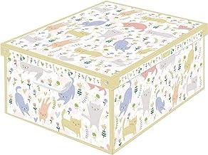 Lavatelli 1 kutu kartondan kıyafet, dolap, ev eşyaları koymak için kap FRG31 büyük, kediler, çok renkli, grance, 18 parçal...