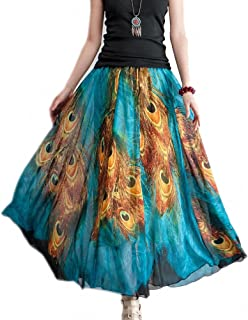 Best peacock print chiffon fabric Reviews