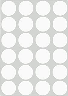 ChromaLabel 3/4 inch Removable Color-Code Dot Labels on Sheets | 1,008/Pack (White)