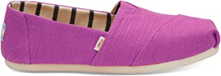 TOMS Classic Womens Pink Canvas Espadrilles