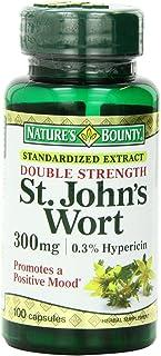 Nature's Bounty St. John's Wort, Double Strength, 300mg, 100 Capsules (Pack of 4)