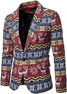 Men's Casual Blazer Dress Floral Suit Coat Notched Lapel Slim Fit Stylish Blazer Coat Jacket New African Printed National ...