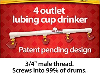 4 Cup Lubing Drinker / Waterer for 20 to 25 chooks, Great for Chickens