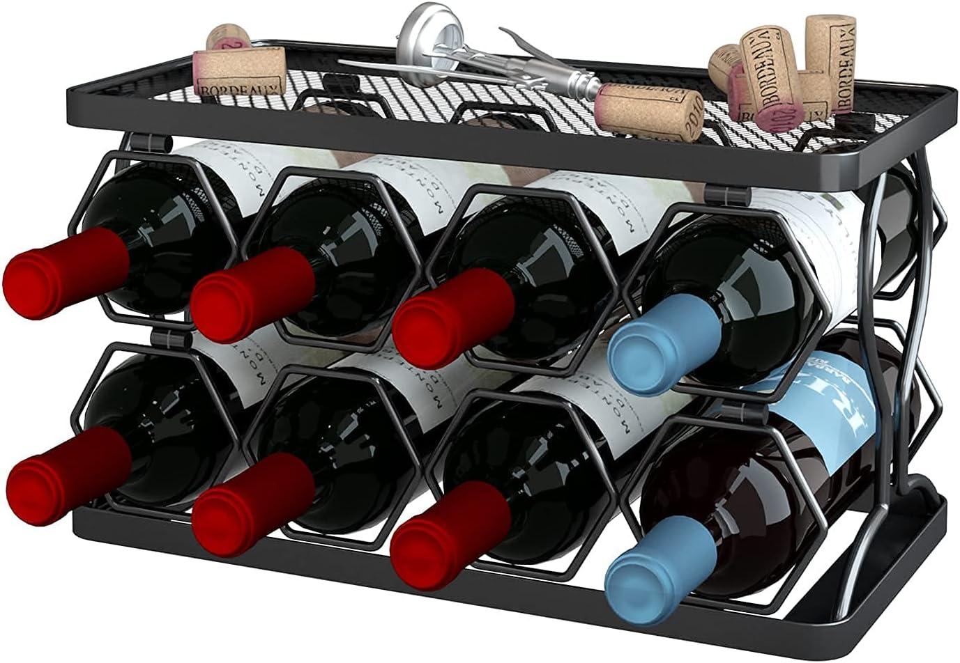 Apsan 2-Tier Stackable Indefinitely Wine trust Standing Bott Freestanding Rack