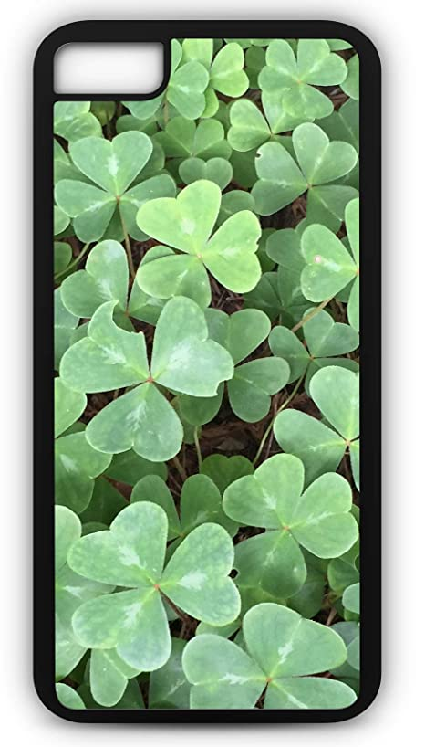 iPhone 8 Plus 8+ Case Clover Luck of The Irish Shamrock Lucky Charms Customizable by TYD Designs in Black Rubber