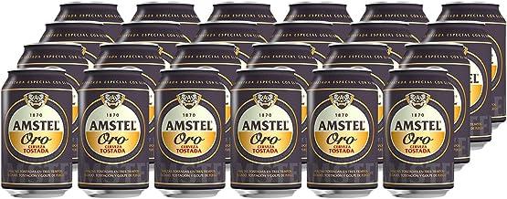 Amstel Oro Cerveza - Caja de 24 Latas x 330 ml - Total: 7.92 L