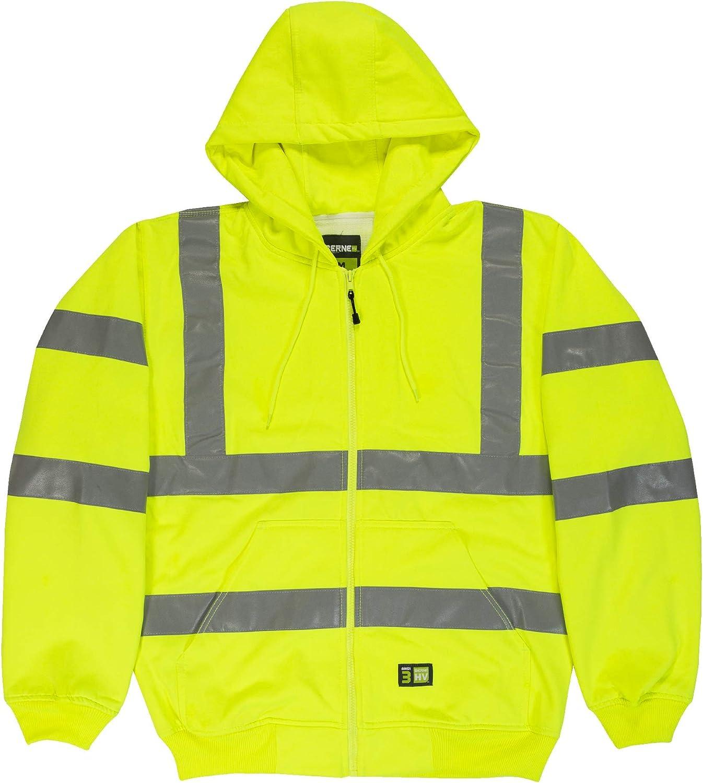 Berne Men's Big and Tall Big & Tall Hi-Visibility Lined Hooded Sweatshirt