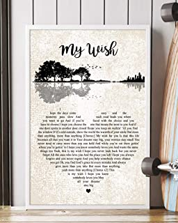My Wish Song Lyrics Mattata Decor Gift Portrait Poster Print (16