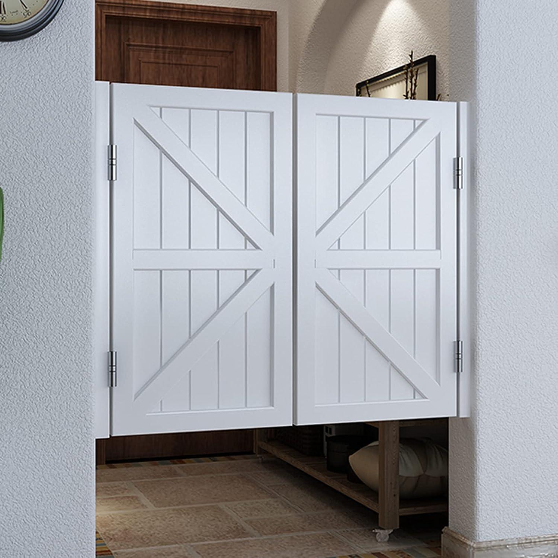 Household items Puerta abatible de Madera Maciza, Puerta de cafetería, Puerta de partición de Patio Interior, Puerta de Valla de Patio, una Entrada de Cocina con bisagras con Puertas Dobles