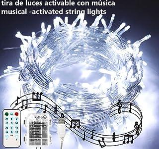 Cadena de luces LED para árbol de Navidad, tira musical 100