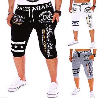 Men's Shorts Fashion New Men's Pants Drawstring Elastic Waist Printing Loose Sports Pants