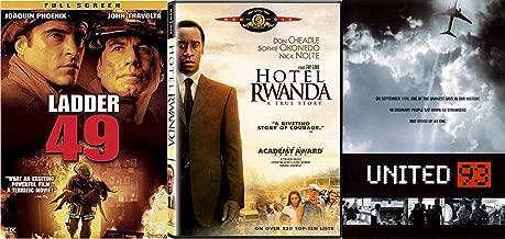 Darkest Days United 93 & True Story Hotel Rwanda + Ladder 49 Triple Feature movie set DVD Pack