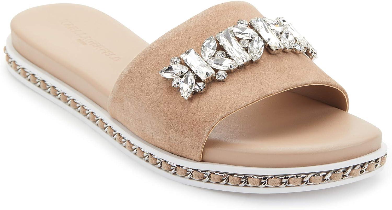 Karl Lagerfeld Paris Women's Bijou Fashion Slide Sandal