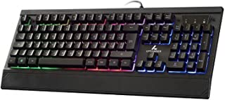 LYCANDER Tastiera Gaming italiana, con cavo USB (1.8m), 19 tasti anti-ghosting, retroilluminazione a LED