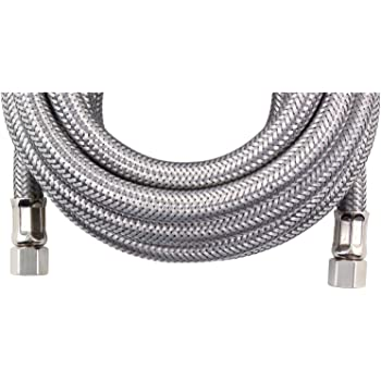 TT FLEX Flexible Certified Appliance Stainless Steel Braided Ice Maker Hose Connector,1//4comp1//4comp,5FT