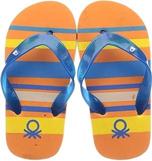 United Colors of Benetton Unisex Kid's Orange Flip-Flops-5 UK (24 EU) (17A8CFFPU847I)
