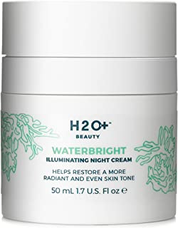 H2O+ Beauty Waterbright Illuminating Night Cream, Helps Restore a More Radiant and Even Skin Tone, 1.7 ounce