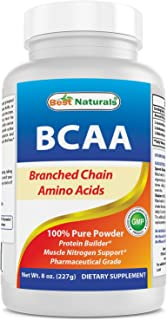 Best Naturals BCAA Powder 8 OZ Branch Chain Amino Acids Pharmaceutical Grade