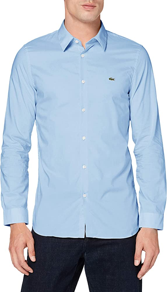 Lacoste, camicia elegante per uomo,100% cottone CH2668