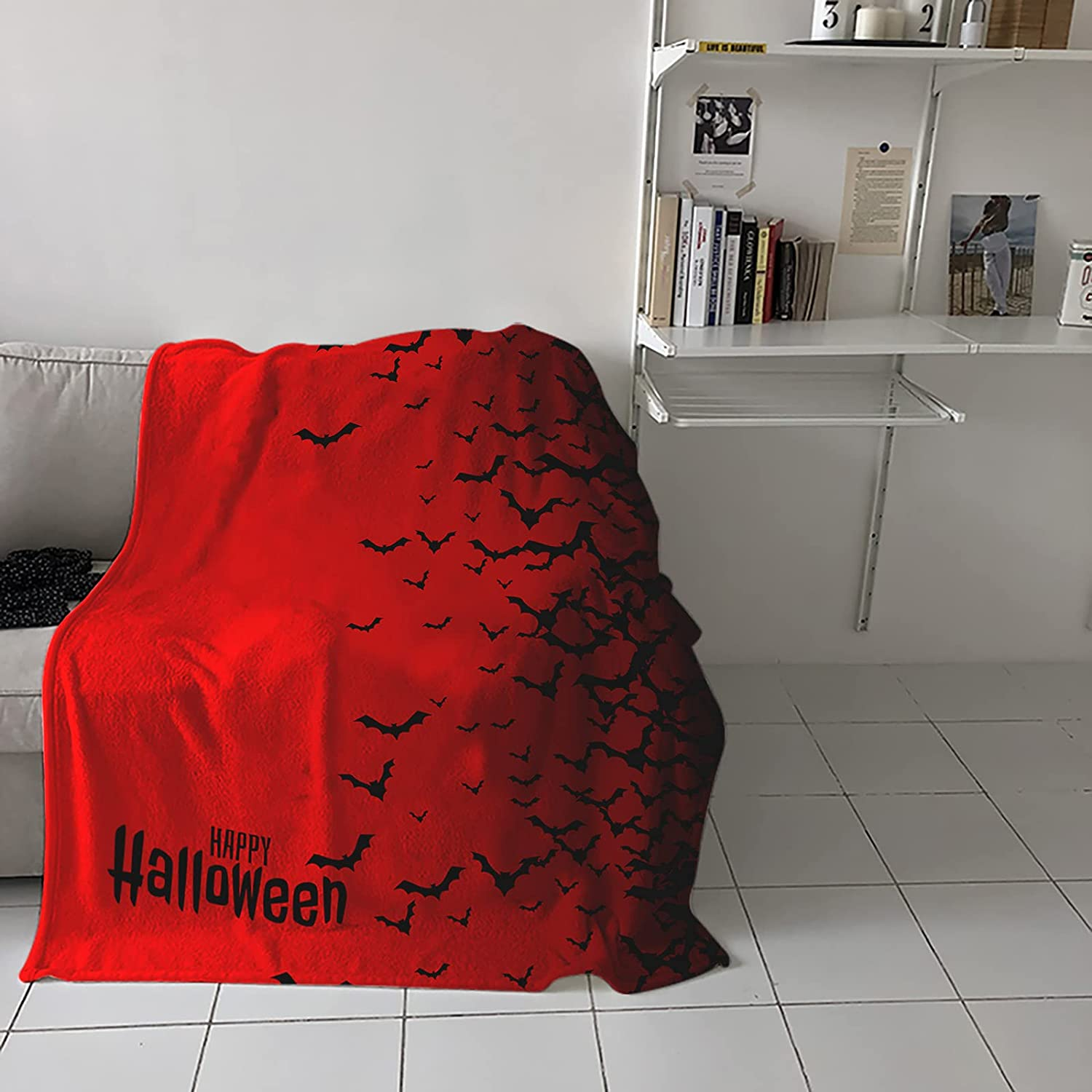 Flannel Fleece Throw Blanket for Couch or Hallowe Happy Max 40% OFF Bed Sofa Sacramento Mall