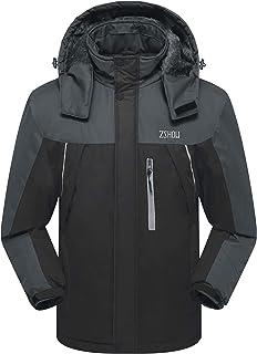 ZSHOW Men`s Waterproof Ski Jacket Windproof Fleece Outdoor Insulated Mountain Snow Rain Jacket