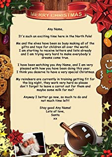 Traditional Santa Personalized Christmas Letter From Santa