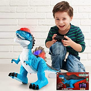 Remote Control Dinosaur Toys, Electronic Walking Robot Dinosaur Figure with Light and Realistic Sounds 2.4Ghz Simulation R...