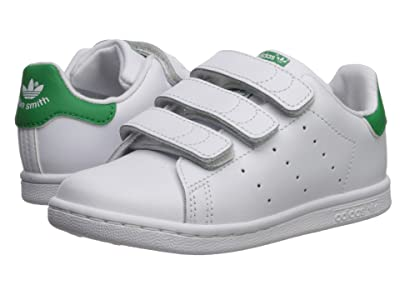 adidas Originals Kids Stan Smith (Toddler) (White/Green) Boy