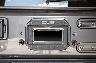 DV8 Jeep Wrangler Spare Tire Delete Kit – Laser Cut Steel Finished in Textured Black Includes License Plate Light – Fits 2018+ JL Models – Easy Installation, Uses Factory Hardware – JLTS-01