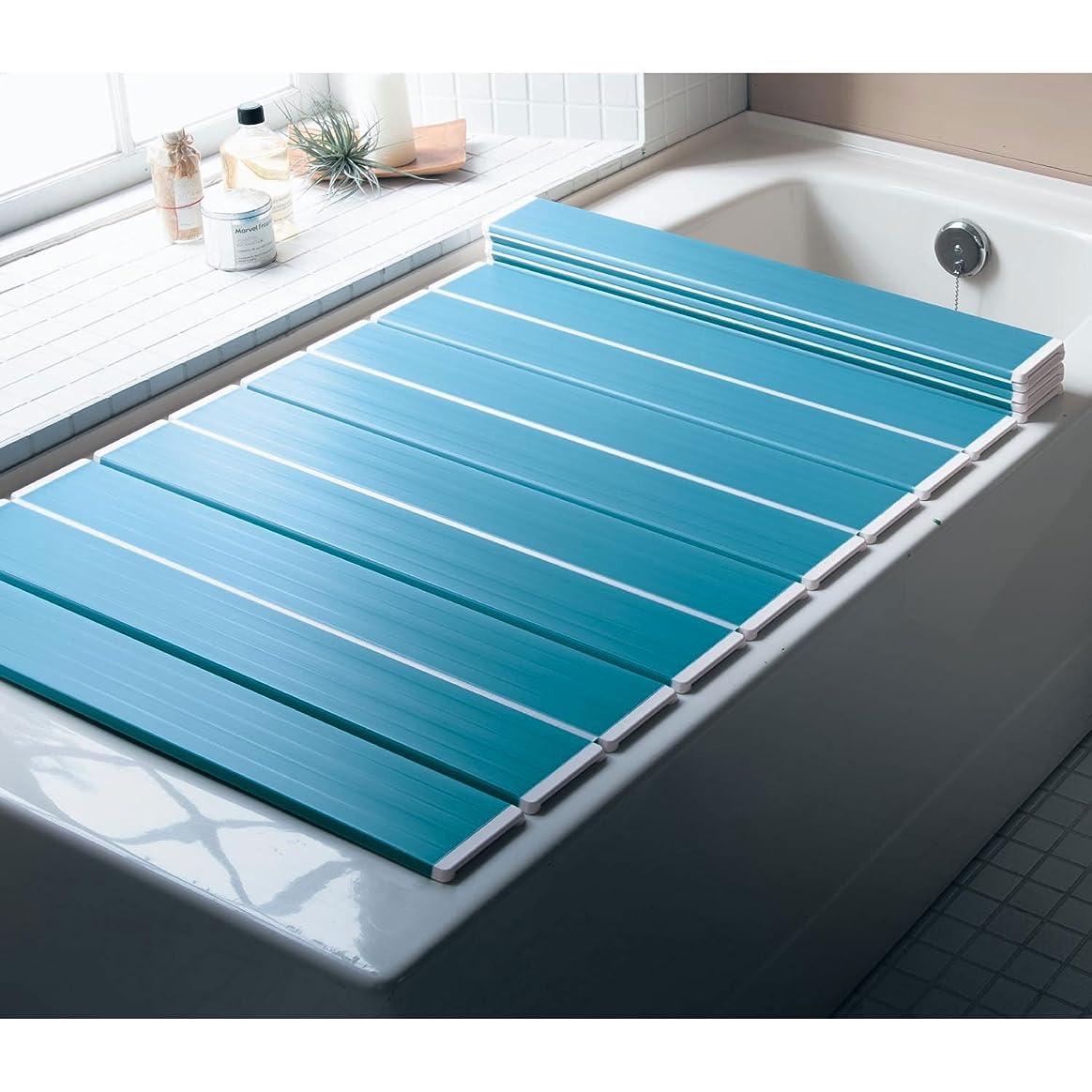 エジプト人手綱六月[ベルメゾン] 風呂ふた 防カビ 抗菌 折りたたみ コンパクト 日本製 ブルー 約70×139